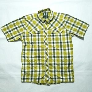 Under Armour Short Sleeve Plaid Button Shirt